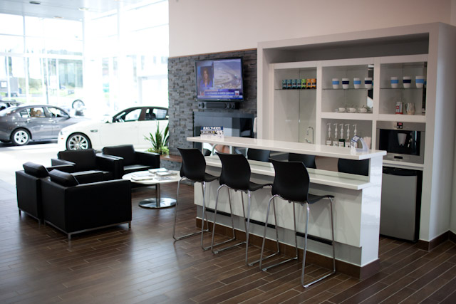 Lounge at BMW St. John's